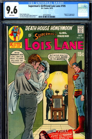 Superman's Girlfriend, Lois Lane #105 CGC graded 9.6 first Rose and Thorn SOLD!