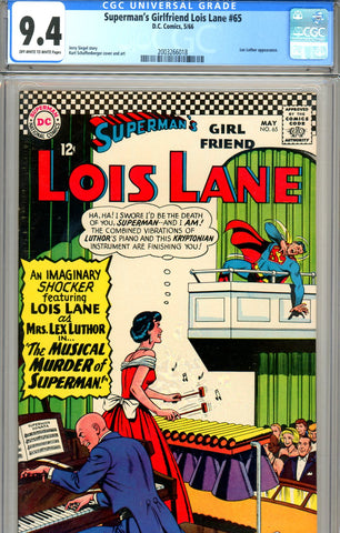 Superman's Girlfriend, Lois Lane #065 CGC graded 9.4