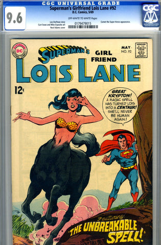 Superman's Girlfriend, Lois Lane #92   CGC graded 9.6 - SOLD!