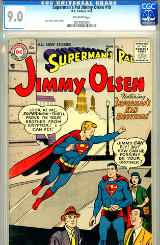 Superman's Pal, Jimmy Olsen #019   CGC graded 9.0 SOLD!