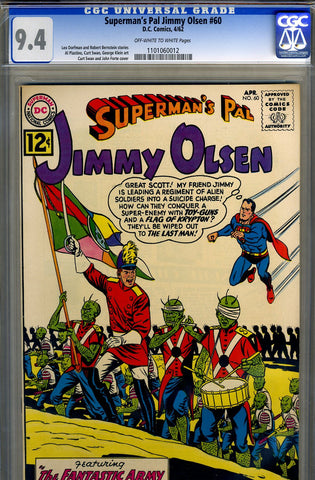 Superman's Pal, Jimmy Olsen #060   CGC graded 9.4 - SOLD!