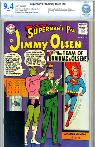 Superman's Pal, Jimmy Olsen #086   CBCS graded 9.4 - SOLD!