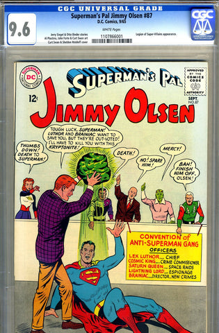 Superman's Pal, Jimmy Olsen #087   CGC graded 9.6 - SOLD