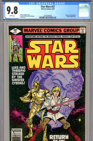 Star Wars #27 CGC graded 9.8 -  HIGHEST GRADED - SOLD!