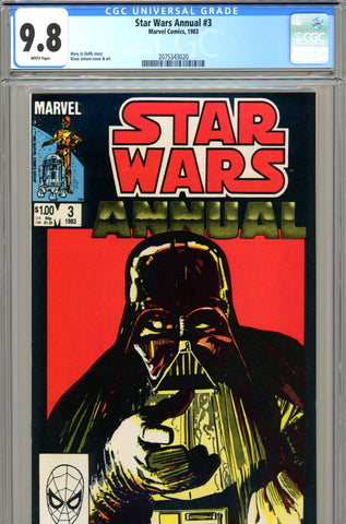 Star Wars Annual #3 CGC graded 9.8 HIGHEST GRADED - SOLD!