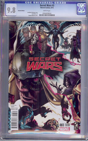 Secret Wars #3  CGC graded 9.8 - Variant Edition - HIGHEST - SOLD!
