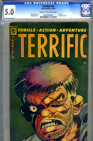 Terrific #14 CGC graded 5.0 classic horror cover SOLD!