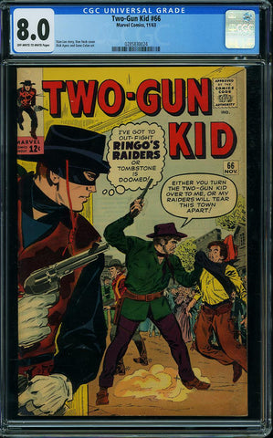 Two-Gun Kid #66  CGC graded 8.0 -dated 1963 - SOLD!