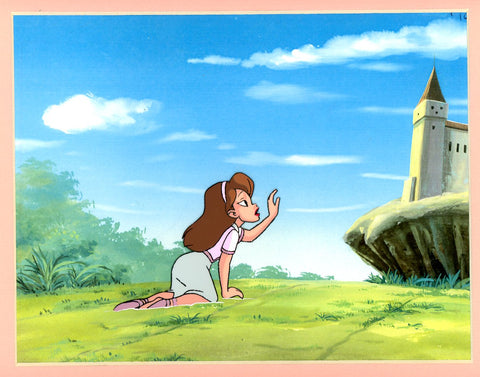 "Original production cel -""Thumbelina""- by Golden Films 249 MATTED"