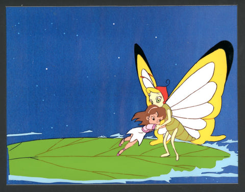 "Original production cel -""Thumbelina""- by Golden Films 252 MATTED"