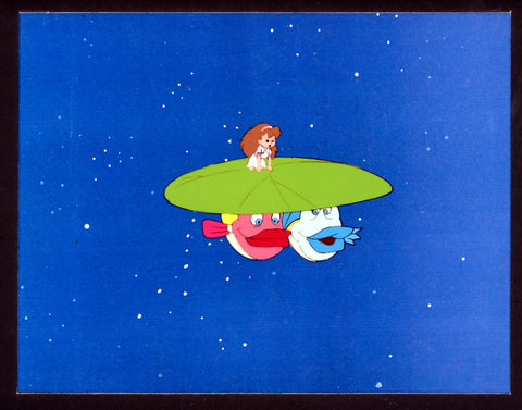 "Original production cel -""Thumbelina""- by Golden Films 253 MATTED"