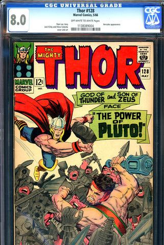 Thor #128 CGC graded 8.0 - Hercules cover/art
