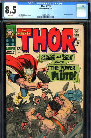 Thor #128 CGC graded 8.5 - white pages SOLD!
