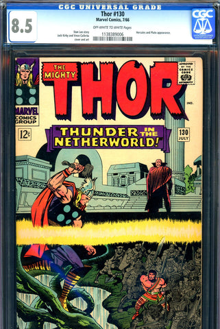 Thor #130 CGC graded 8.5 - Hercules and Pluto