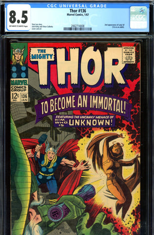 Thor #136 CGC graded 8.5 - second Lady Sif   SOLD!