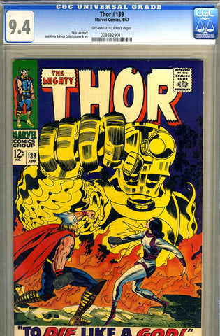 Thor #139   CGC graded 9.4 - SOLD