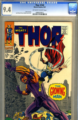 Thor #140   CGC graded 9.4 - SOLD