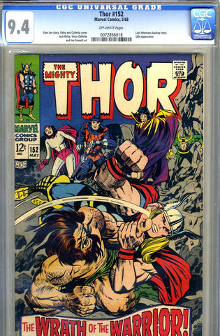 Thor #152   CGC graded 9.4 - SOLD