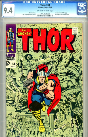 Thor #154 CGC graded 9.4 first Mangog SOLD!