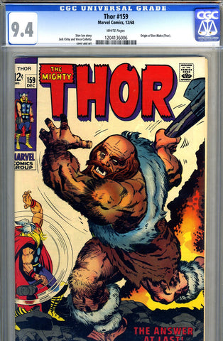 Thor #159  CGC graded 9.4 - white pages - SOLD!