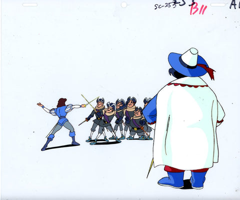 "Original production cel -""Three Musketeers""- by Golden Films 029"