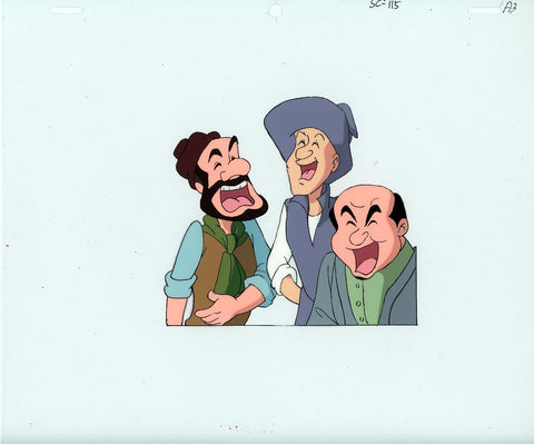 "Original production cel -""Three Musketeers""- by Golden Films 039"