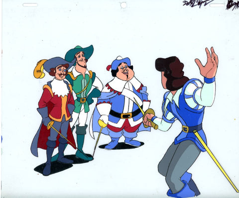 "Original production cel -""Three Musketeers""- by Golden Films 067"