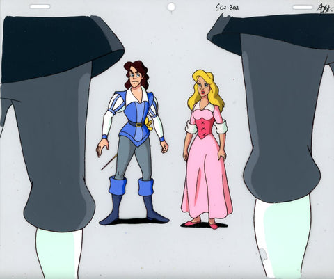 "Original production cel -""Three Musketeers""- by Golden Films 071"