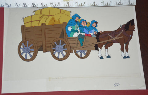 "Original production cel -""Three Musketeers""- by Golden Films 125 SIZE 14.50"" x 9.75"""