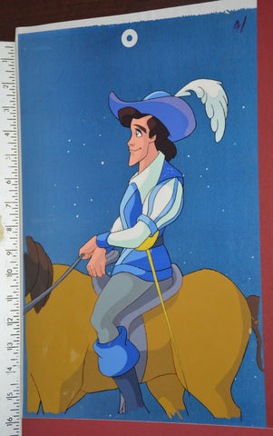 "Original production cel -""Three Musketeers""- by Golden Films 128 SIZE 15.50"" x 10.50"""