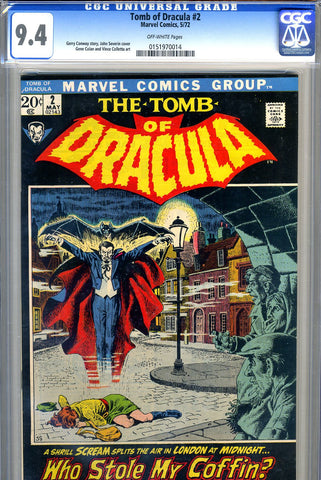 Tomb of Dracula #02   CGC graded 9.4 - SOLD!