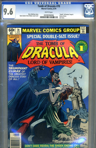 Tomb of Dracula #70   CGC graded 9.6 - last issue - SOLD