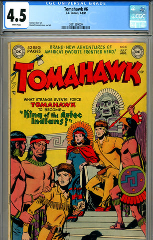 Tomahawk #006 CGC graded 4.5 white pages
