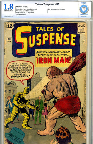 Tales of Suspense #40   CBCS graded 1.8 - SOLD!
