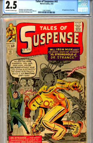 Tales of Suspense #41 CGC graded 2.5 third ever Iron Man SOLD!