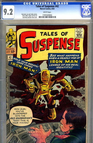 Tales of Suspense #42   CGC graded 9.2 - white pages - SOLD!