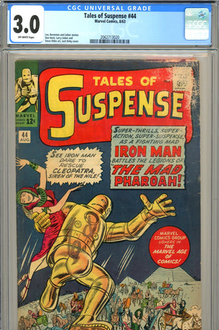 Tales of Suspense #44 CGC graded 3.0 Mad Pharoah