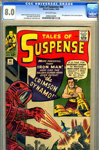 Tales of Suspense #46   CGC graded 8.0 - SOLD