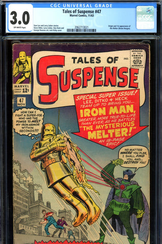 Tales of Suspense #47 CGC graded 3.0 first Melter SOLD!