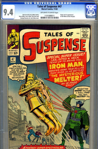 Tales of Suspense #47   CGC graded 9.4 - SOLD!