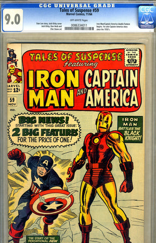 Tales of Suspense #59   CGC graded 9.0 - SOLD
