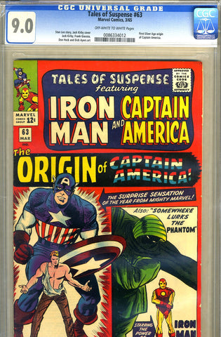 Tales of Suspense #63   CGC graded 9.0 - SOLD