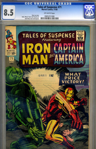 Tales of Suspense #71   CGC graded 8.5 - SOLD!