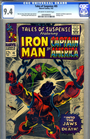 Tales of Suspense #85   CGC graded 9.4 SOLD!