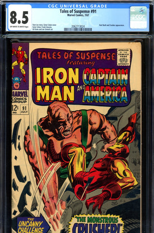 Tales of Suspense #91 CGC graded 8.5  Red Skull appearance SOLD!
