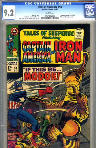 Tales of Suspense #94   CGC graded 9.2 - SOLD