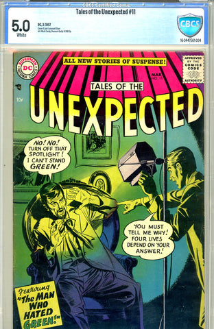 Tales of the Unexpected #11  CBCS graded 5.0 white pages