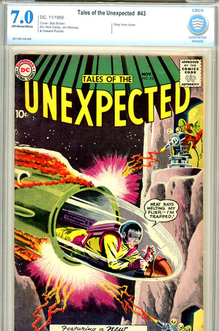 Tales of the Unexpected #43  CBCS graded 7.0 first S.R. cover in title