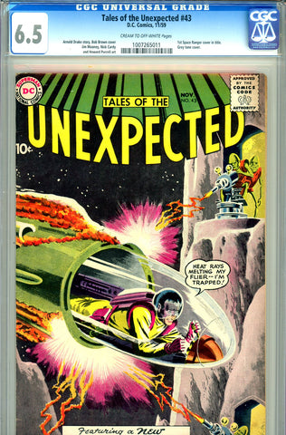 Tales of the Unexpected #43   CGC graded 6.5 first S.R. cover in title