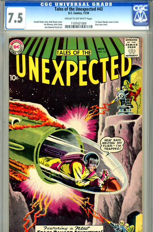 Tales of the Unexpected #43   CGC graded 7.5 first S.R. cover in title